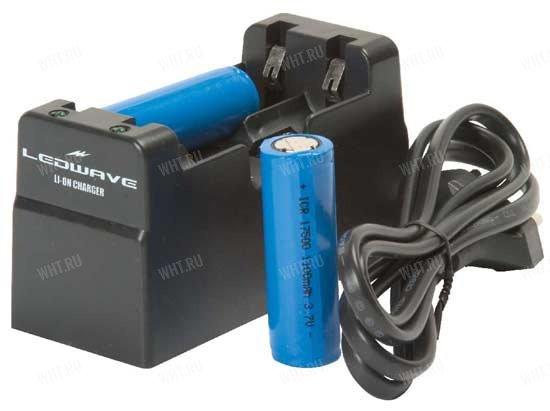 (86003) Зарядное устройство для аккумуляторов типа 17500 (3,6 Вольта, габариты АА) от сети 220 вольт - товары для...